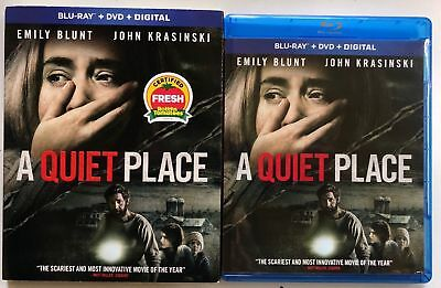 A Quiet Place Blu Ray Dvd 2 Disc Set + Slipcover Sleeve Free World Wide Shipping