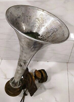 rare vintage marine brass and aluminium ship salvage nautical horn 100% original