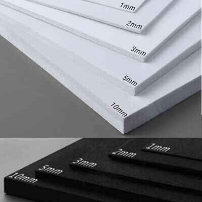 EVA Foam Sheets White/Black Kids Cosplay Model 1~10mm 35x50cm 35x100cm DIY Craft