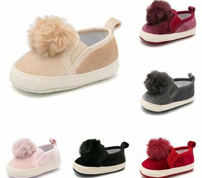 Billowy Baby Girl Cute Pom-Pom Patent Leather Boots New Gift Black 19 EU// 3.5 US