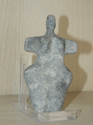 Antique Black Stone Figure statuette,mother godess,fertility,Idol,god,alien