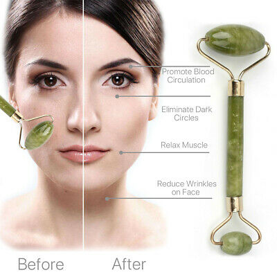 Anti Ageing Jade Roller Face Massage Beauty Tool Facial Eye Neck Anti Wrinkle