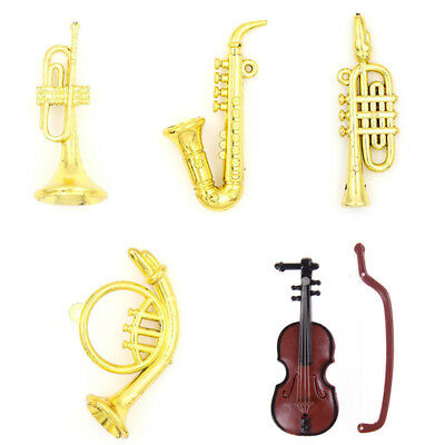 5 Styles Miniature Musical Instrument Model for 1/12 Dollhouse Garden Accessory