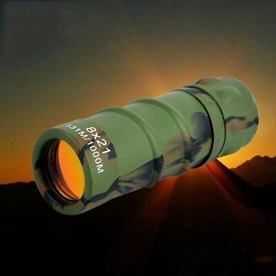 New Lightweight WOODLAND CAMO MONOCULAR 10x21 Army Pocket Camouflage Telescope