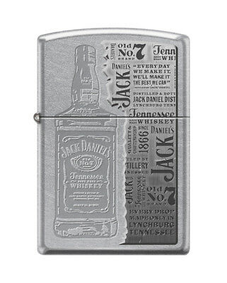"Zippo ""Jack Daniel's Old No. 7"" Street Chrome Finish Lighter,  0921"