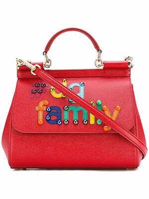 Authentic Dolce   Gabbana Sicily Medium  DG family patch RRP USD 2900 8ddebc8854421