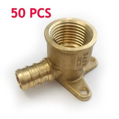 "50 PCS 1/2"" PEX x 1/2"" Female NPT  Drop Ear Elbow Crimp Fitting(Lead Free)"