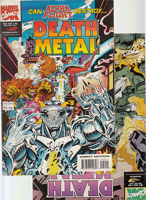 DEATH METAL   Nºs. 2. 3.   ( LOTE  2  NUMEROS) MARVEL. U.K. ORIGINAL EN INGLES.