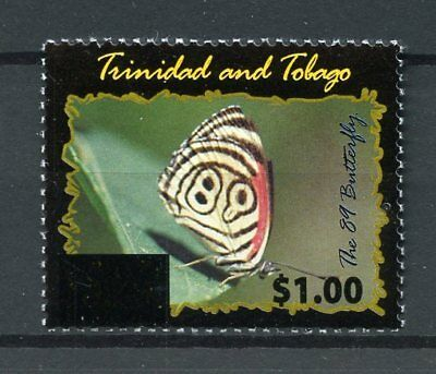 Trinidad & Tobago 2017 MNH 89 Butterfly OVPT 1v Set Butterflies Stamps