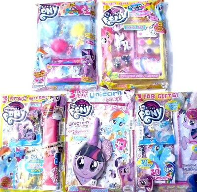 5 x MY LITTLE PONY MAGAZINES ~ ALL NEW WITH FREE GIFTS ~