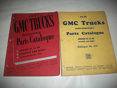 1947-1948 Gmc Truck Chassis+Body Early Issue Parts Catalog All Series 91-98
