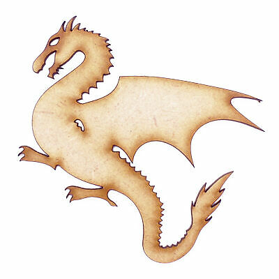 3mm MDF Wooden Laser Cut Shapes Various Sizes - Dragon 01