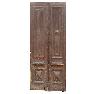 Salvaged Wood Door Pair from France, 19th Century, NED845