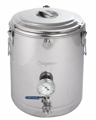 Chapman Brewing ThermoBarrel Fully Insulated Stainless Steel Mash Tun Homebrew