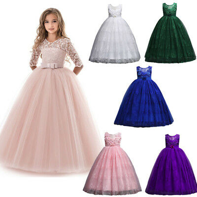 1pc Child Kid Girl Wedding Flower Dress Lace Princess Party Formal Dress Clothes