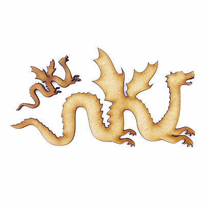 3mm MDF Wooden Laser Cut Shapes Various Sizes Dragon 02