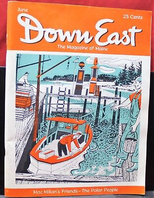 "VINTAGE Magazines, ""Down East"" The Magazine of Maine, '55, '58, VG-VG+ condition"