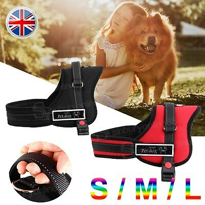Outdoor No-pull Dog Harness Adventure Pet Puppy Vest Padded Handle Harnesses UK7