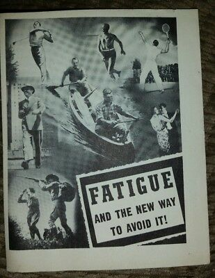 Knox Gelatin Advertising Booklet Fatigue And The New Way To Avoid It 1939