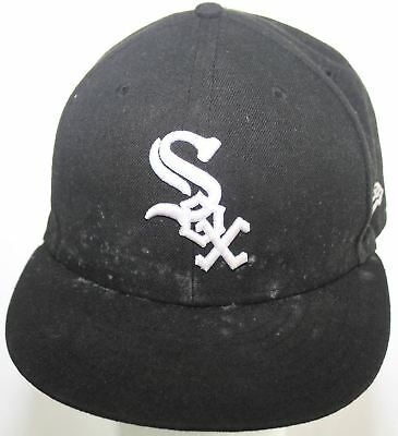 Chicago White Sox New Era 9Fifty Black Baseball Hat Snapback Cap Medium Large