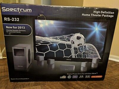 SPECTRUM RS-232 HIGH Definition Home Theater System Surround Sound ...