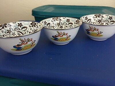 Disney kitchenware dishes Goofy and Pluto bowls lot of 3