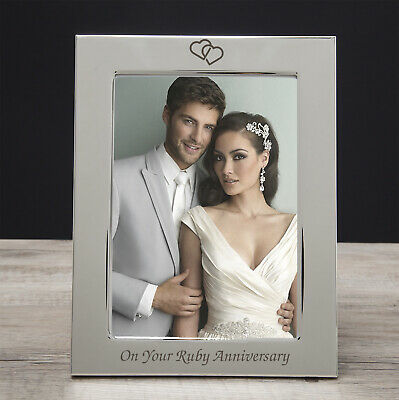 Silver 5x7 On Your Ruby Anniversary Photo Picture Frame Gifts 40th Wedding Day