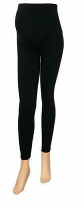 2 X Ladies Women Black Maternity Leggings Pregnancy Trouser Very Relaxed Comfy