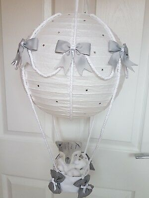 Hot air balloon light shade silver plus fox woodland animal stunning last one
