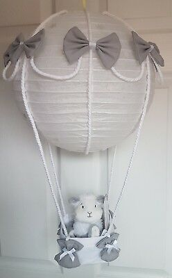 Hot air balloon light shade silver mothercare lamb  comforter looks stunning x