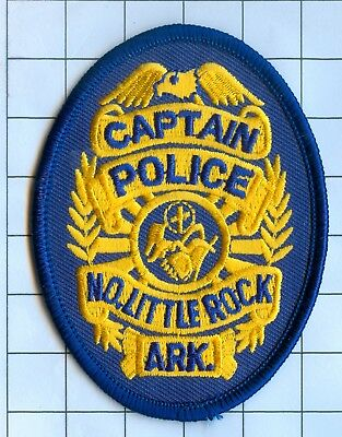 Police Patch Embroidered Mini-Patch  - Arkansas - Captain No. Little Rock