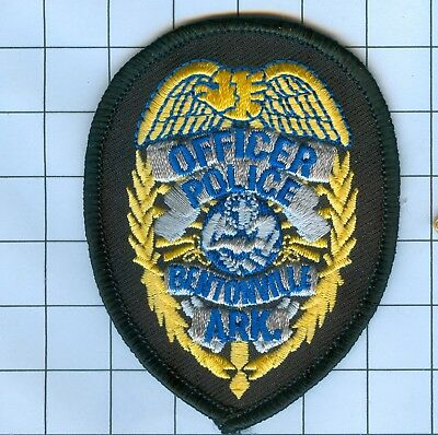 Police Patch Embroidered Mini-Patch  - Arkansas - Officer Bentonvi...