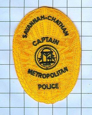 Police Patch Embroidered Mini-Patch  - Georgia - Captain Savannah-Chatham