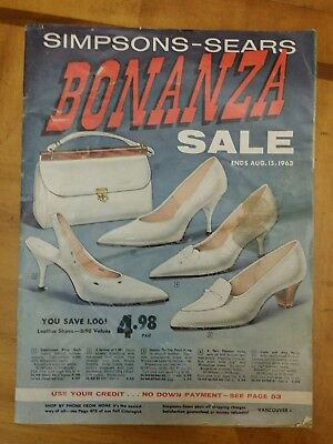 Vintage Simpsons Sears BONANZA Catalog 1963