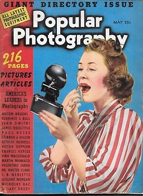 Popular Photography  magazine May 1940  Giant Directory Issue 216 pages