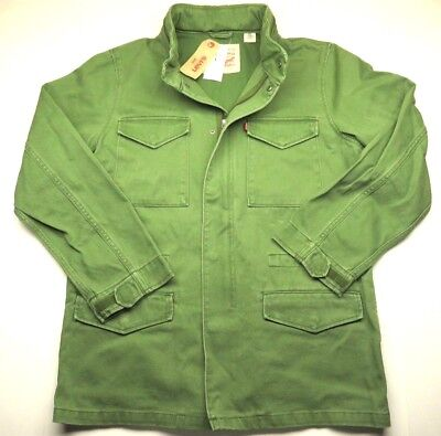 NEW WITH TAGS Levi Strauss & Co. Green Zip Up Jacket With Hood Adult Men's Sz L