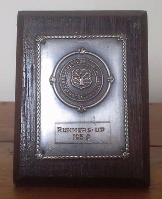 Vintage 1959 football trophy plaque/shield, trophy, football, Westmorland FA