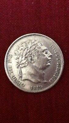 King George III 1819 Sixpence Mint Error Double Struck 1's A/UNC Rare