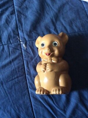 "Vintage ""BEST"" Plastic Pig Piggy Bank 6 1/2"""