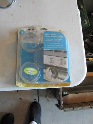 Safety 1st Clear View Stove Knob Covers, 5 Count