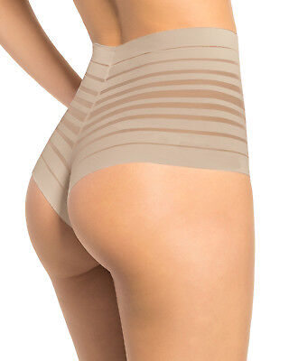 Panties Brazilian Panty-Lite-Shaper Leonisa 012890 Invisible High Waist S-M-L