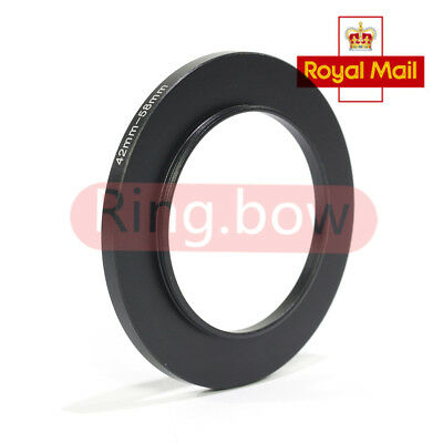 Pixco 42mm-58mm Step-Up Metal Filter Adapter Ring / 42mm Lens to 58mm Accessory