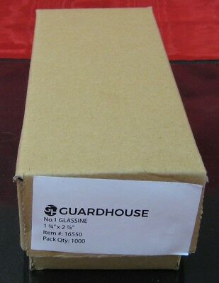 """GUARDHOUSE BRAND GLASSINE ENVELOPE SIZE #1. BOX OF 1000 COUNT. 1 3/4"""" x 2 7/8"""""""