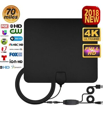 TV Antenna Digital HD - Support All TV's Best 70+ Miles High Definition 2018 New