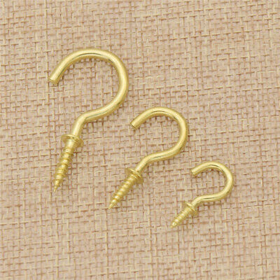 Vintage Cup Hooks Screws Copper Plating Accessories Storage for Home Hanging 50x