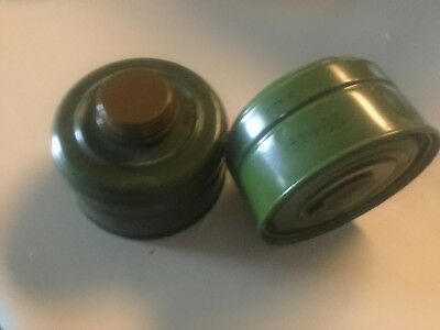 Charcoal Filters 2 Soviet Russian Military Gas mask GP-5 40mm New OS Never Used