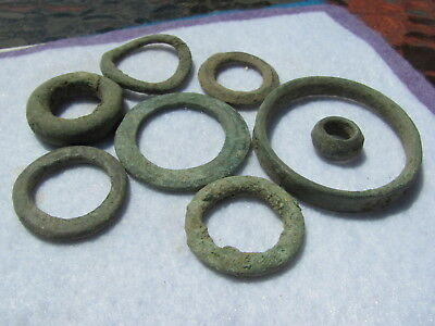 Wonderful lot 8 - Pre Coinage Celtic Ring Money Dated 600 BC - 100 B.C