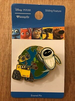 Wall-E Pins Disney Pixar Loungefly Wall E and Flying Eve Sliding Pin Boxlunch