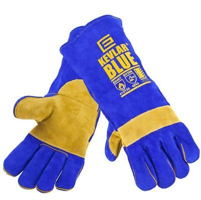 KevlarBlue Leather Welding Gloves x 10 pairs