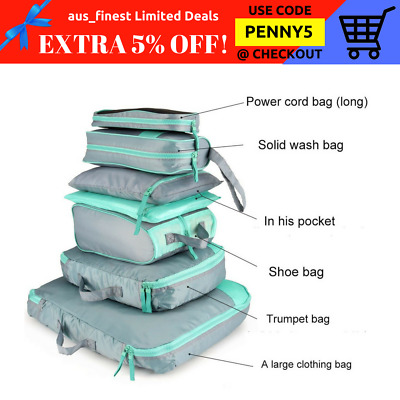 7 PCS Travel Luggage Organizers Suitcase Storage Bags High Quality Waterproof